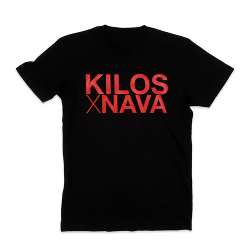 Kilos X Nava Basic Tee in Black and Red