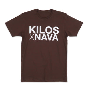 Kilos X Nava Basic Tee in Brown