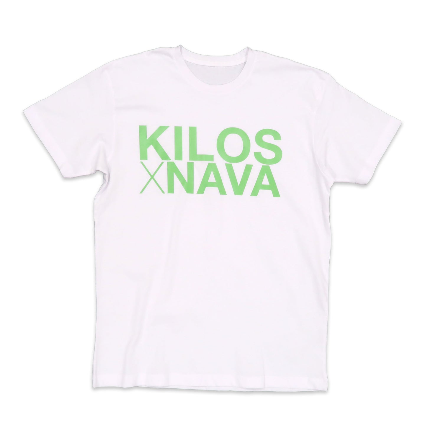 Kilos X Nava Basic Tee in White and Green