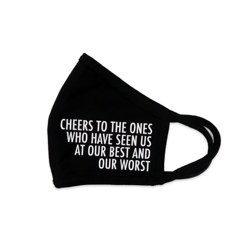 Cheers Mask in Black and White