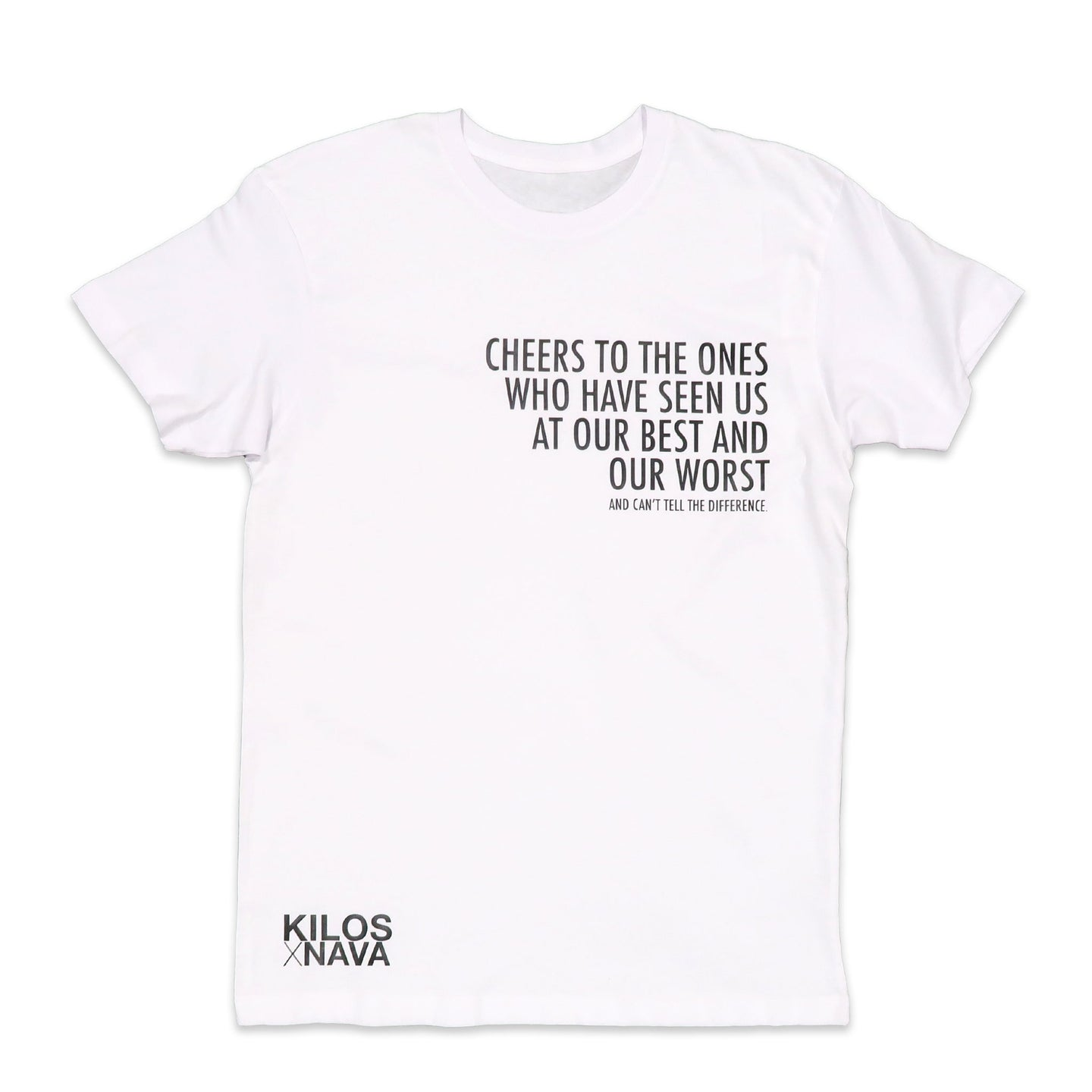 Cheers Tee in White and Black