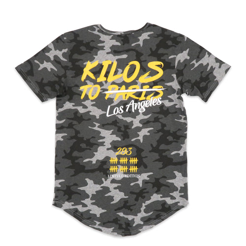 LIMITED EDITION Kilos To Los Angeles Scoop Tee in Camo
