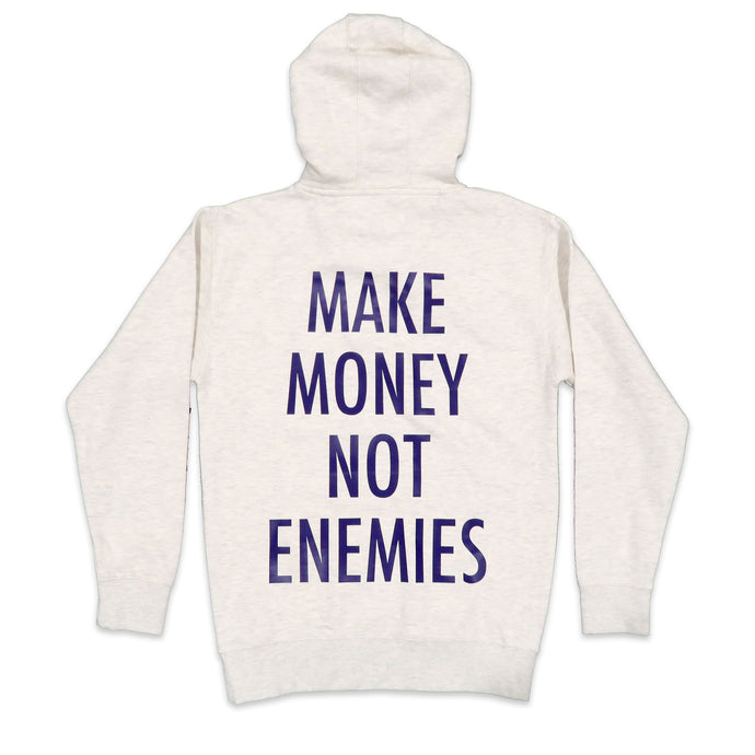 Nava Money Hoodie in Oatmeal and Purple
