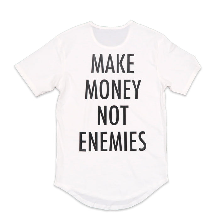 Nava Money Scoop Tee in White and Black