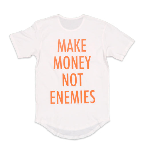 Nava Money Scoop Tee in White and Orange
