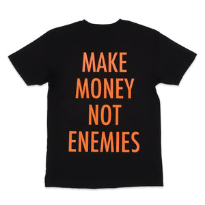 Nava Money Tee in Black and Orange