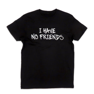 No Friends Tee in Black