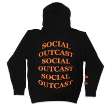 Load image into Gallery viewer, Bulge Social Outcast Hoodie in Black and Orange
