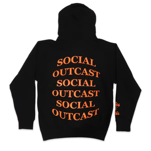 Bulge Social Outcast Hoodie in Black and Orange