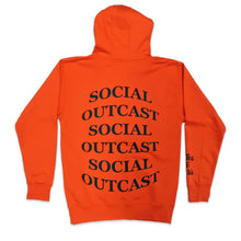 Load image into Gallery viewer, Bulge Social Outcast Hoodie in Orange and Black