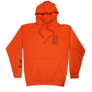 Bulge Social Outcast Hoodie in Orange and Black