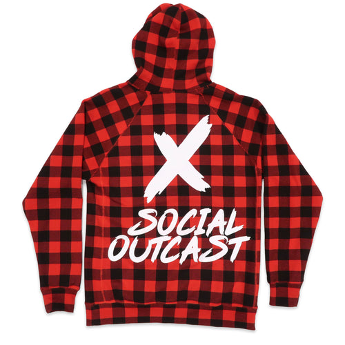 LIMITED EDITION Social Outcast Hoodie in Red