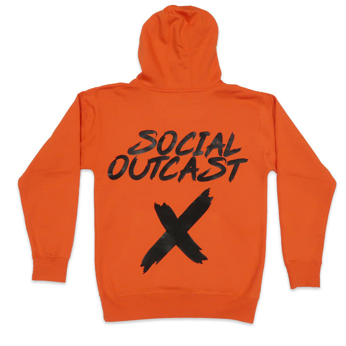 Social Outcast Hoodie in Orange and Black