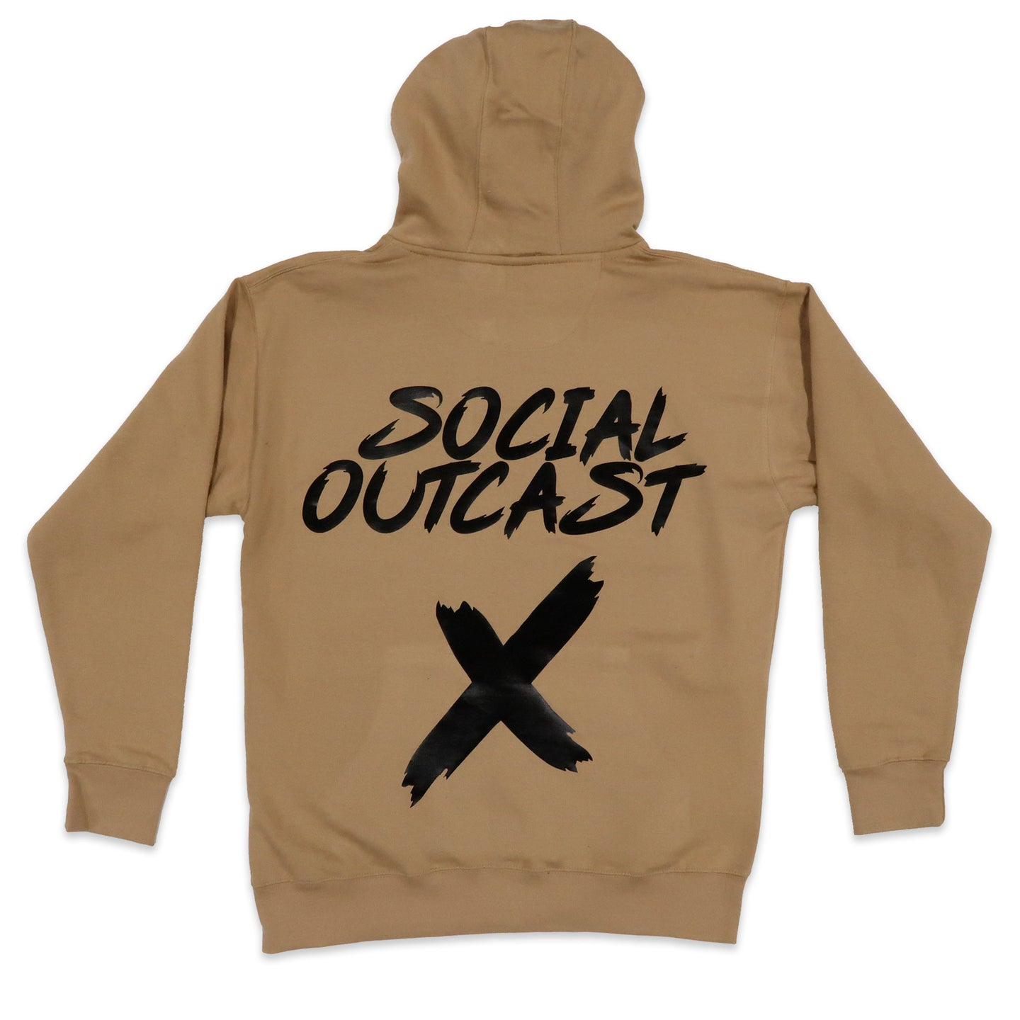 Social Outcast Hoodie in Khaki and Black
