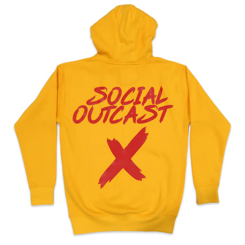 Social Outcast Hoodie in Yellow and Red