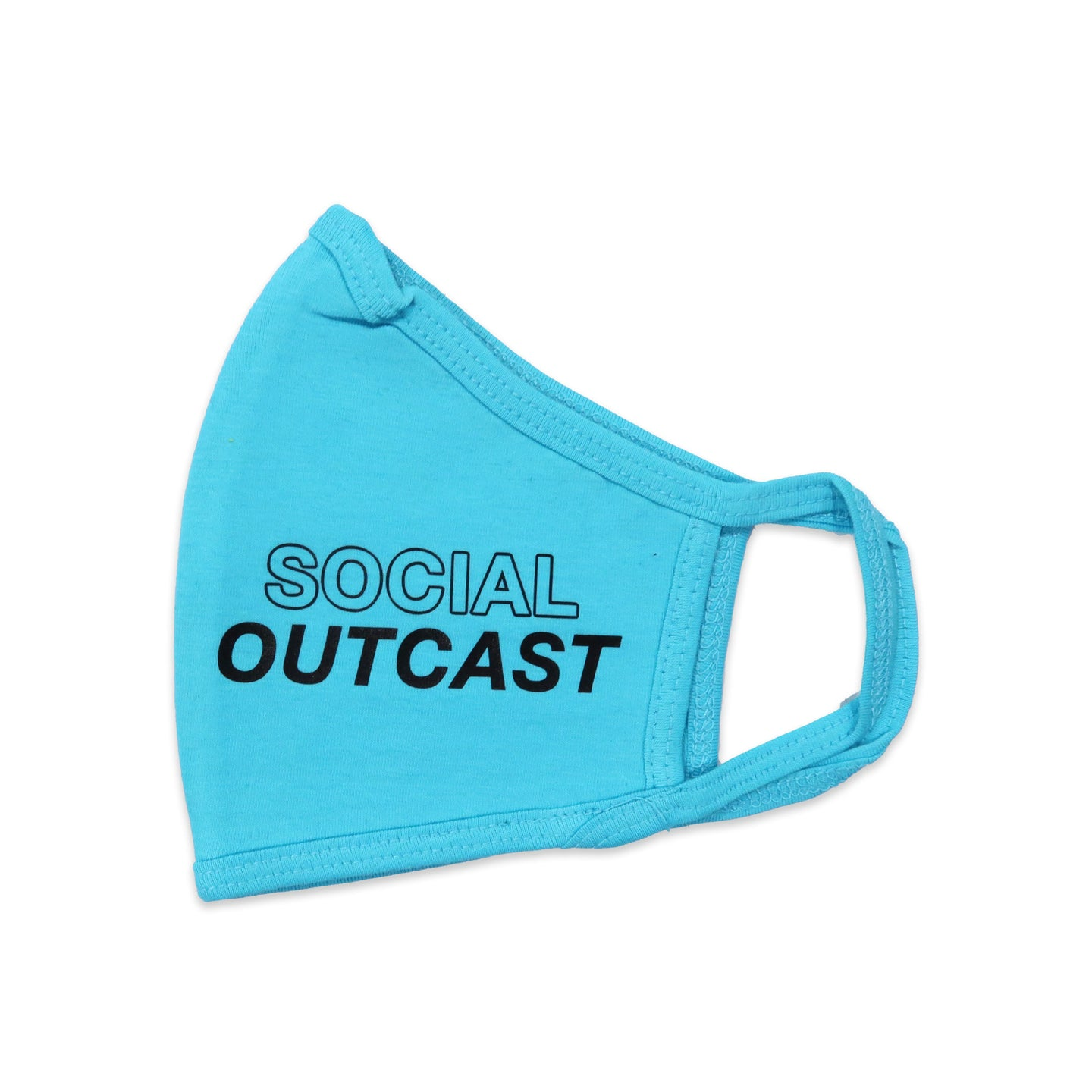 Social Outcast Face Mask in Blue and Black