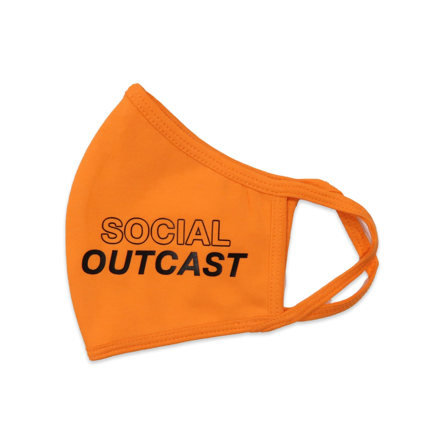 Social Outcast Face Mask in Orange and Black