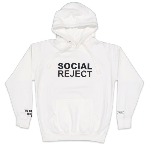 Social Reject Hoodie in White and Black