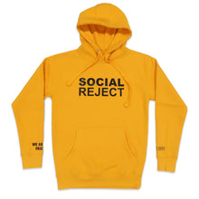 Load image into Gallery viewer, Social Reject Hoodie in Yellow and Black