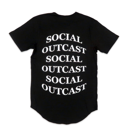 Bulge Social Outcast Scoop Tee in Black