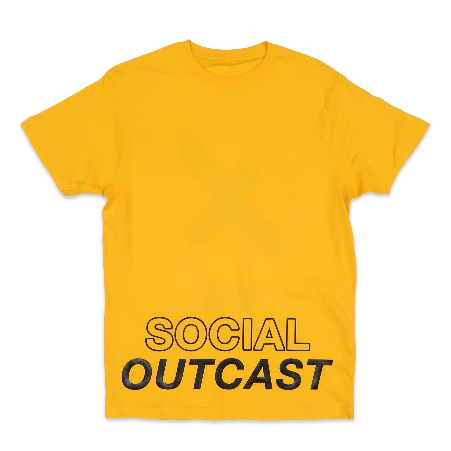 Social Outcast V2 Tee in Yellow and Black