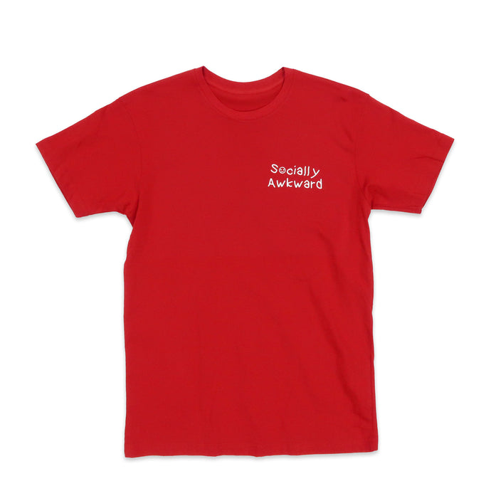 Socially Awkward Tee in Red and White