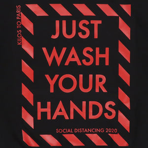 Just Wash Your Hands Hoodie in Black
