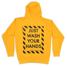 Load image into Gallery viewer, Just Wash Your Hands Hoodie in Yellow