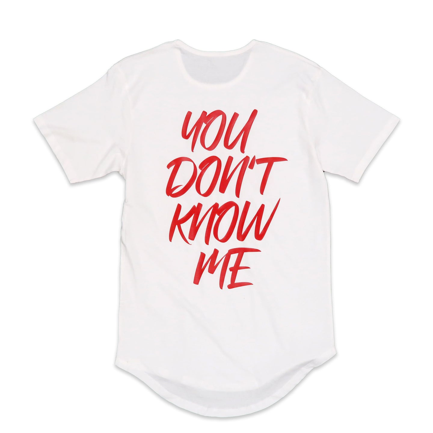 You Don't Know Me Scoop Tee in White
