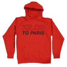 Load image into Gallery viewer, Hidden in Plain Sight Kilos To Paris Hoodie in Red
