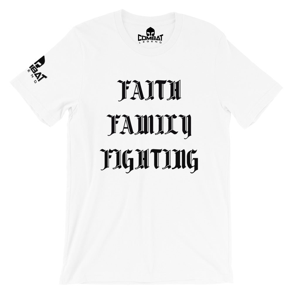 Combat Legend Faith Family Fighting T-Shirt 1