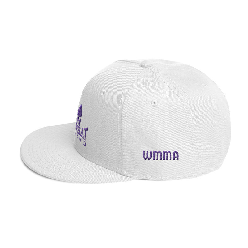 Combat Legend WMMA Purple on White Snapback
