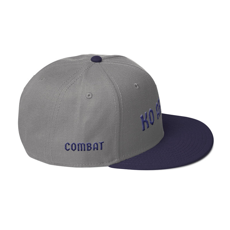 Combat Legend Knockout Artist Navy Blue on Grey 3D Puff Snapback 2
