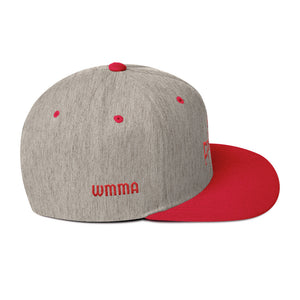 Combat Legend Red on Heather Grey WMMA Snapback 1