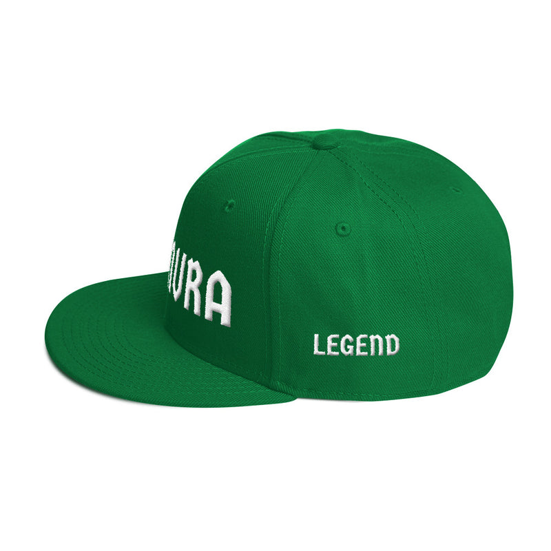 Combat Legend Kimura White on Green 3D Puff Snapback 2