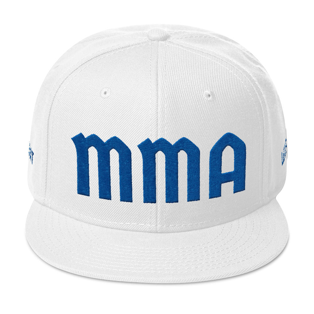 Combat Legend Blue on White Snapback 2