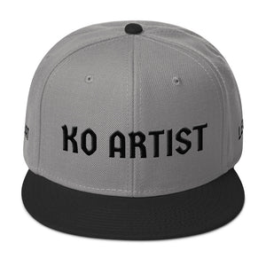 Combat Legend Knockout Artist Black on Silver 3D Puff Snapback 2