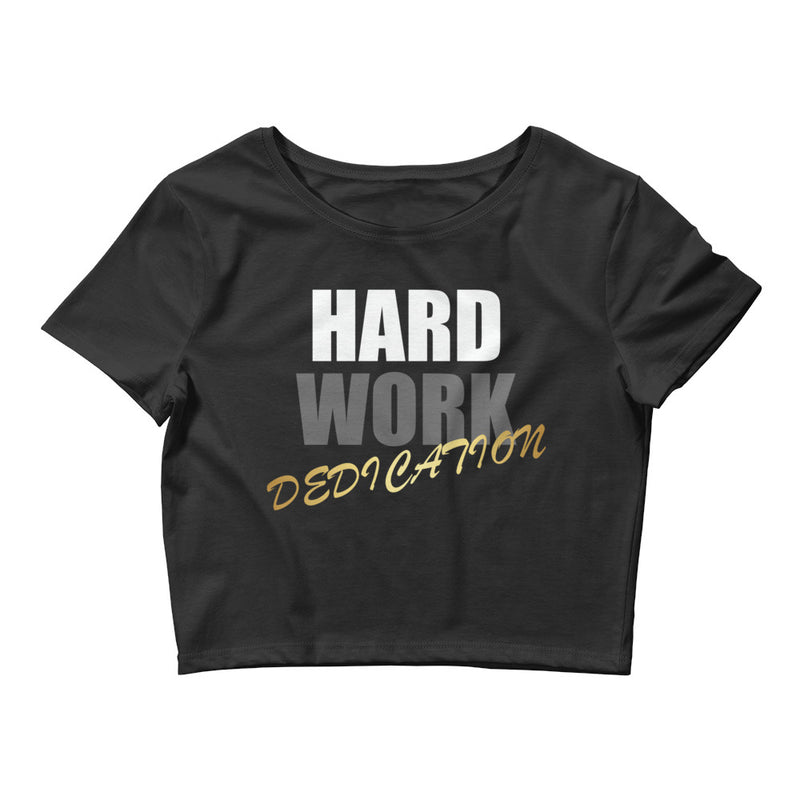 Combat Legend Hard Work Dedication Ladies Crop Top 1B