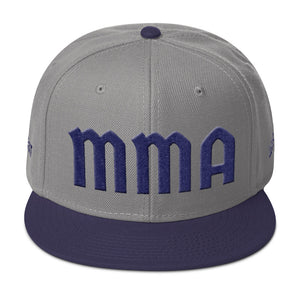 Combat Legend MMA Blue on Grey 3D Puff Snapback 2