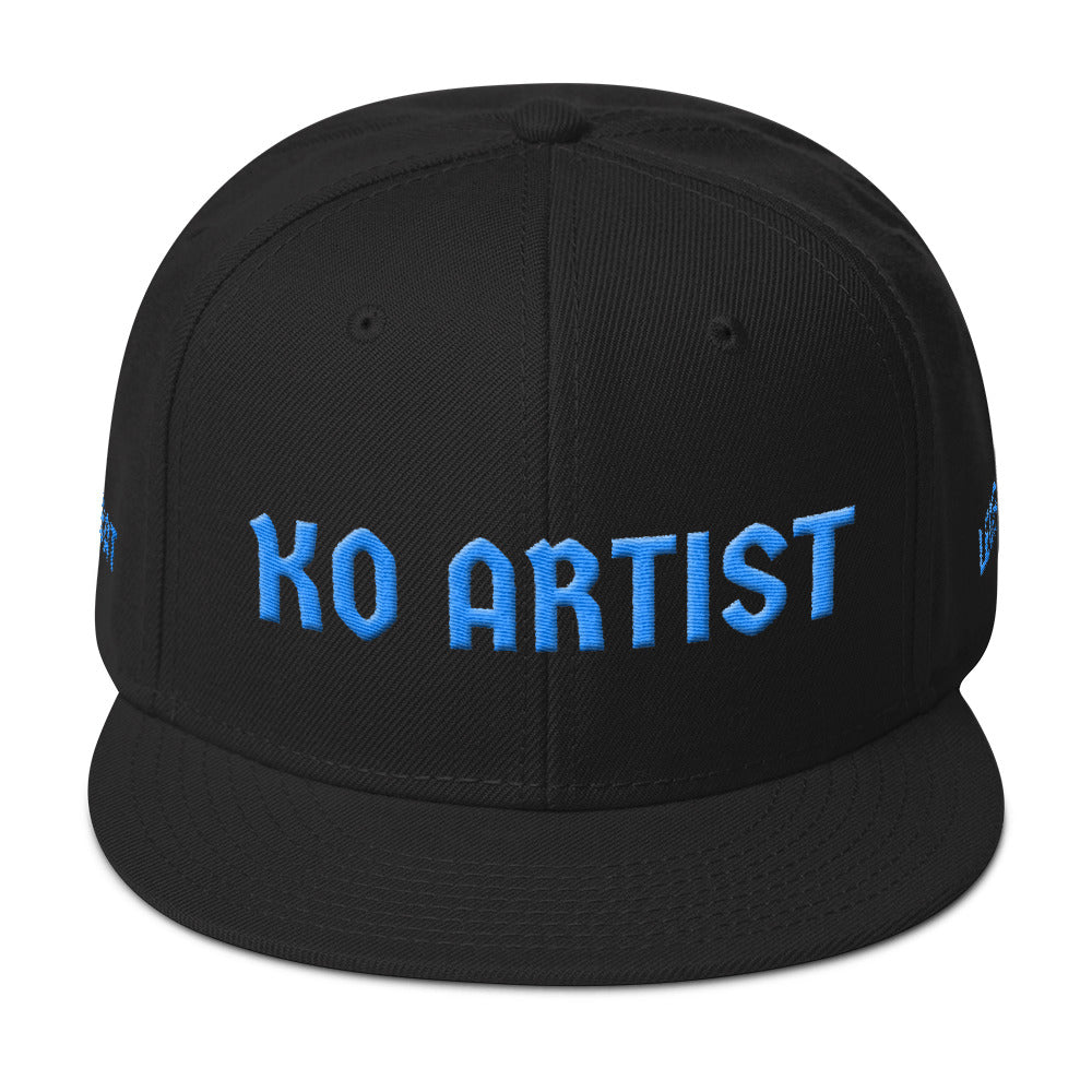 Combat Legend Knockout Artist Baby Blue on Black 3D Puff Snapback 2