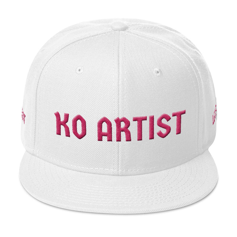 Combat Legend Knockout Artist Flamingo on White 3D Puff Snapback 2