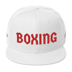Combat Legend Red on White Boxing Snapback 2