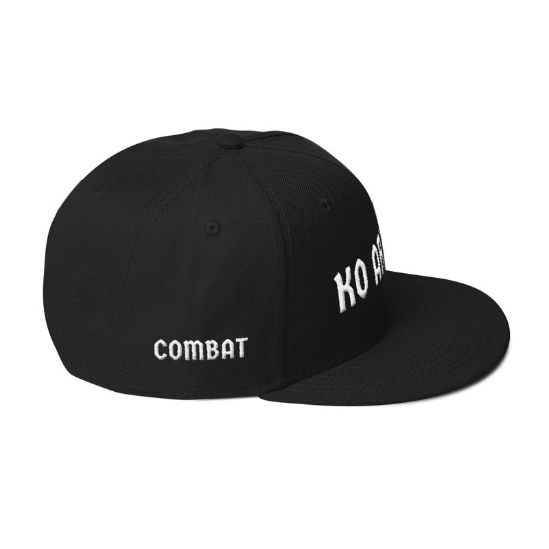 Combat Legend Knockout Artist White on Black 3D Puff Snapback 2