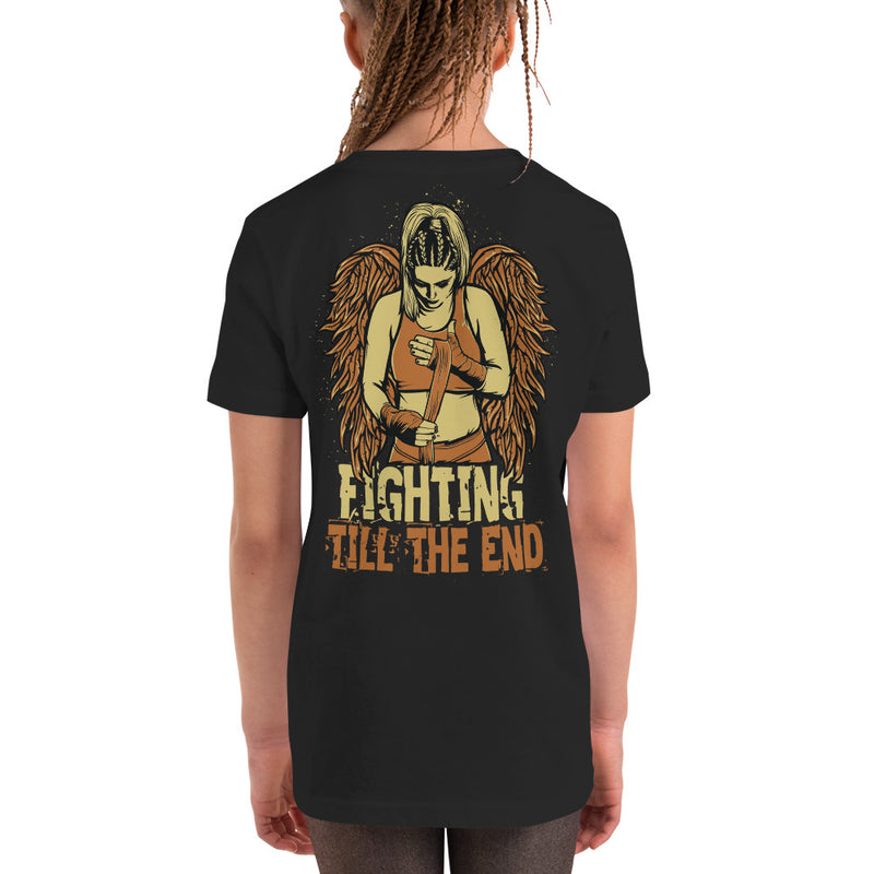 Combat Legend Fighting Till The End Youth Girls T-Shirt