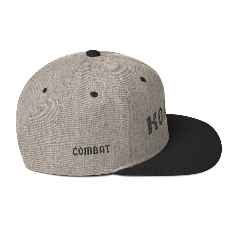 Combat Legend Knockout Artist Black on Grey Snapback 1