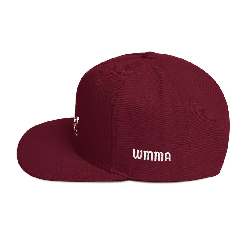 Combat Legend White on Maroon WMMA Snapback 1