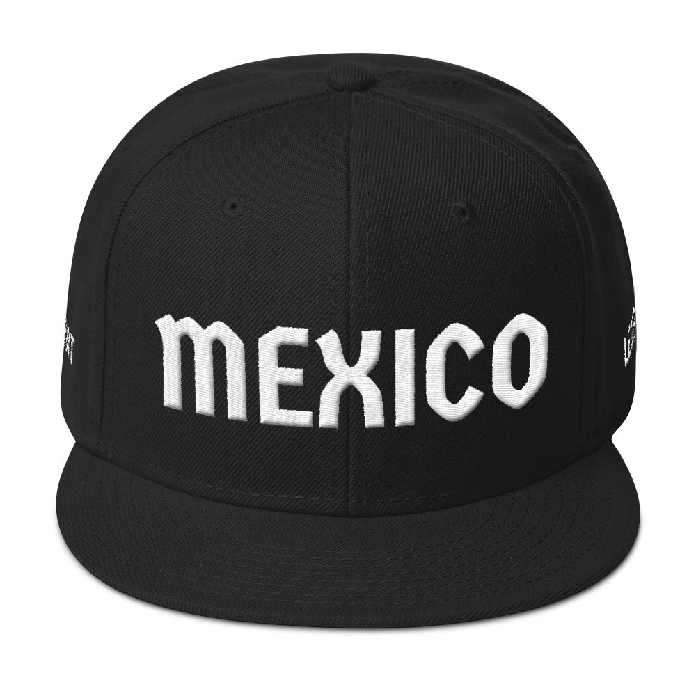 Combat Legend Mexico White on Black 3-D Puff Snapback 2