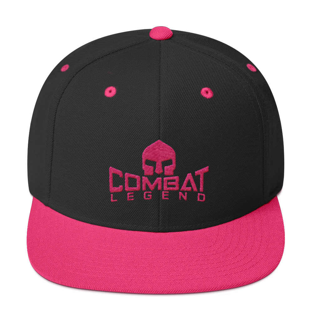 Combat Legend Pink on Black Snapback 1