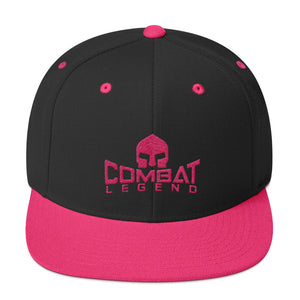 Combat Legend Pink on Black Snapback
