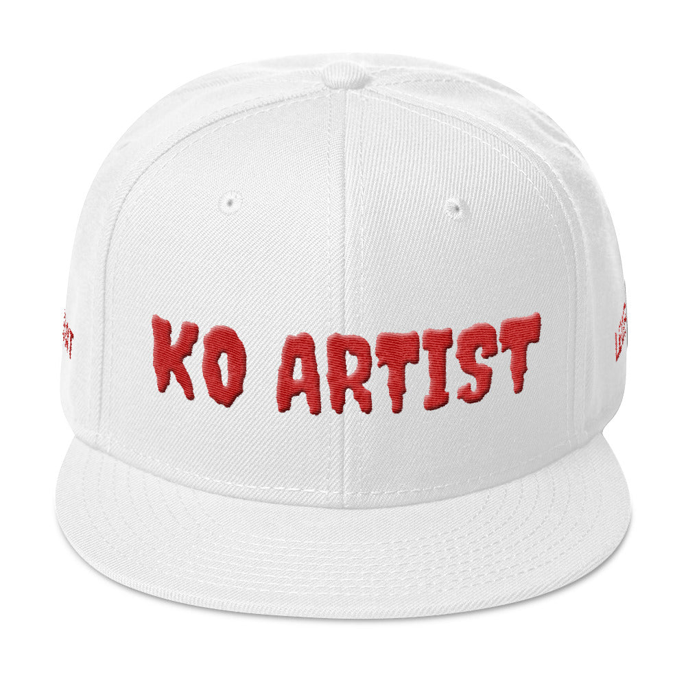 Combat Legend Knockout Artist 2 Red on White Snapback 2
